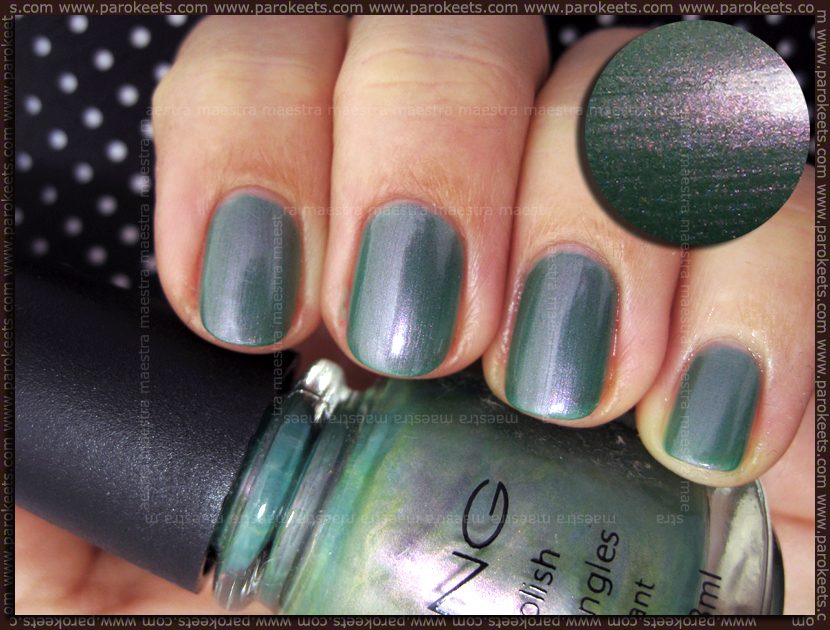 Swatch: Icing - Peacock