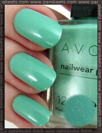 Avon Nailwear Pro nail polish Aqua Fantasy (swatch)