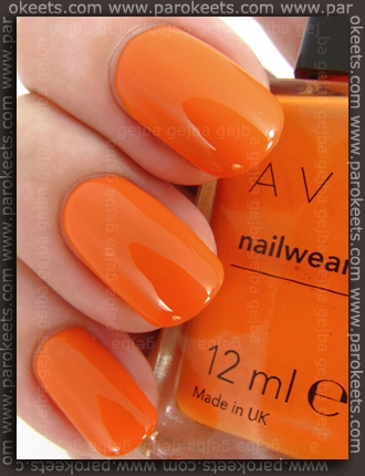 Avon Nailwear Pro nail polish Orange Creamsicle (swatch)