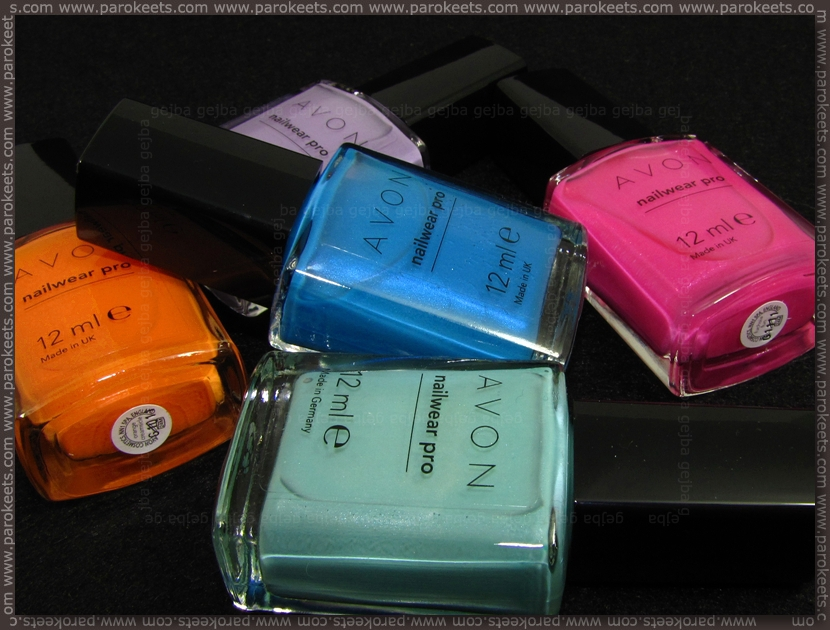 Avon Nailwear Pro - 5 new nail polishes for spring 2012