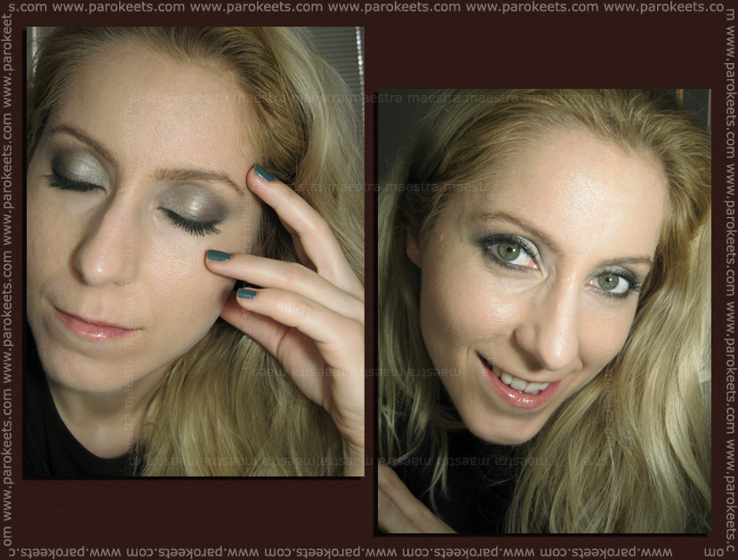 Catrice Nymphelia makeup using the smokey eyes set