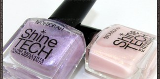 Deborah Shine Tech nail polishes no. 45 and 46