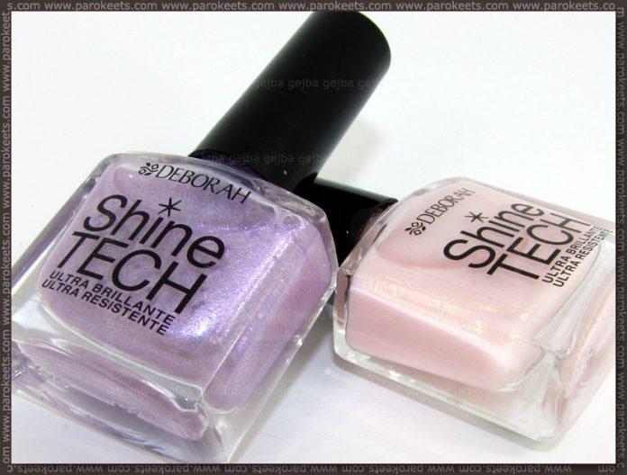 Deborah Shine Tech nail polishes no. 45 and 46
