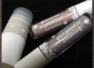 Essence Crystalliced TE: liquid highlighter, eyeshadows