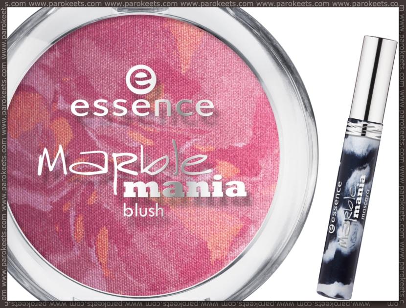 Essence Marble Mania baked blush, mascara
