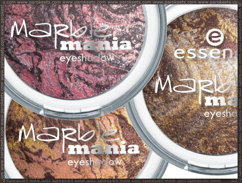 Essence Marble Mania baked eyeshadows