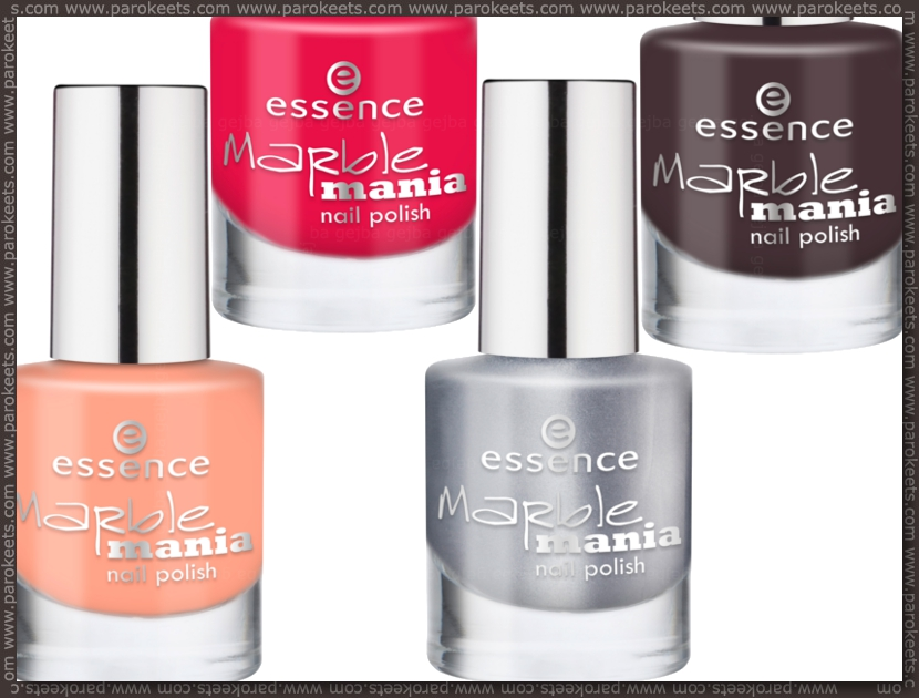 Essence Marble Mania nail polishes