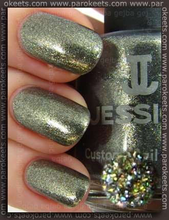 Jessica Smoky Feather (swatch) by Parokeets