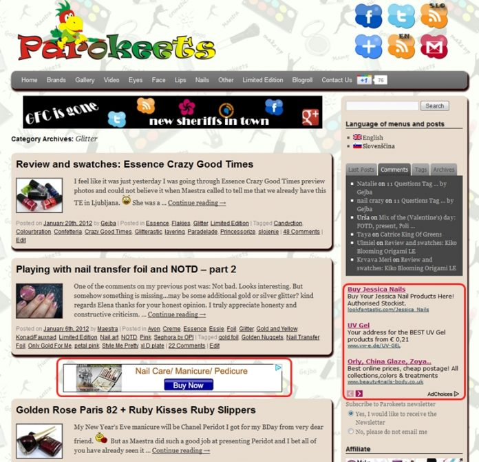 Parokeets ads home