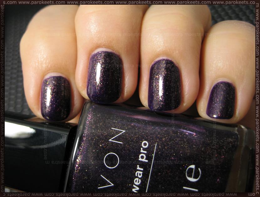Swatch: Avon - Violetta Sparkle (2 coats)