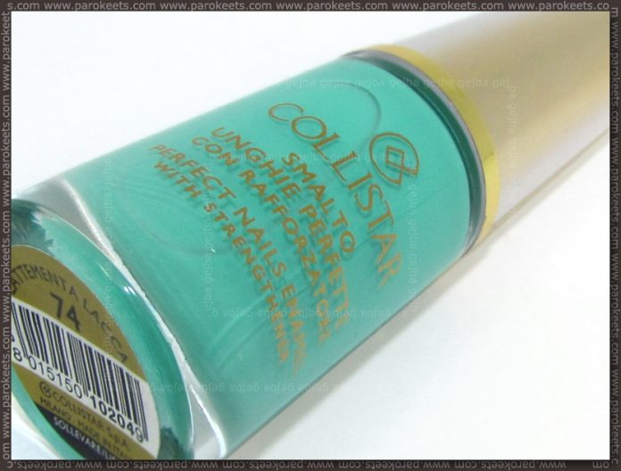 Collistar Capri LE - MintMilk nail polish bottle