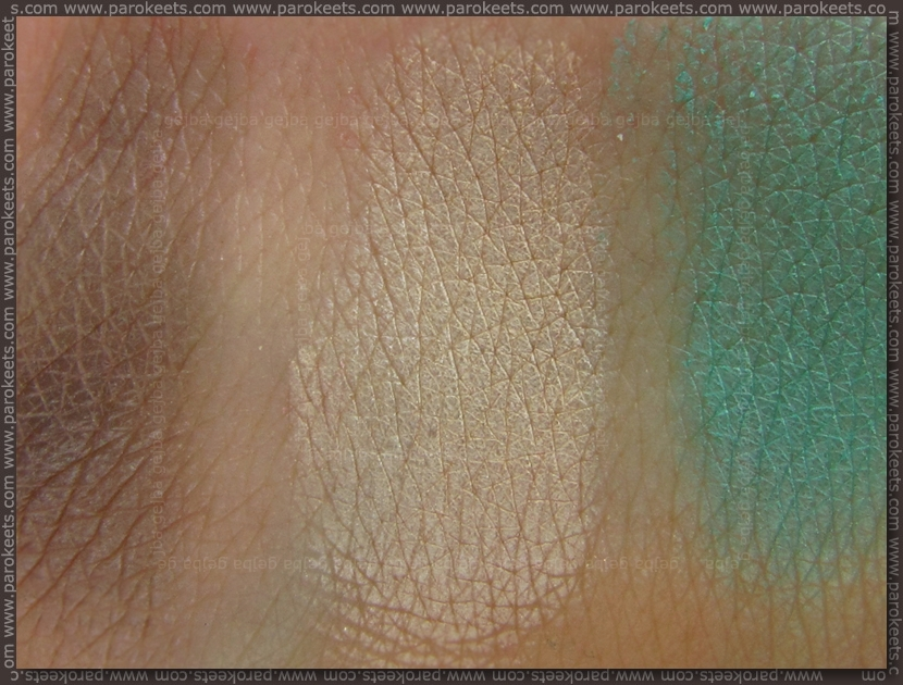 Collistar Capri LE eyeshadow swatches