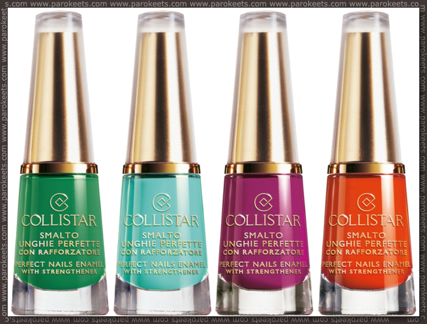 Collistar Capri LE - nail polishes preview