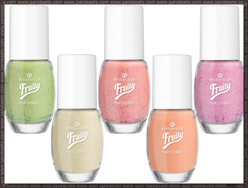 Essence Fruity nail polishes preview
