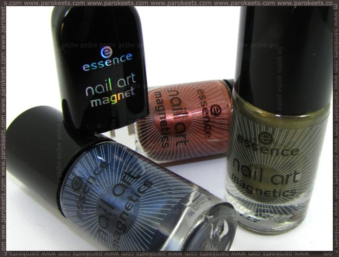 Essence new magnetics nail polishes + star magnet