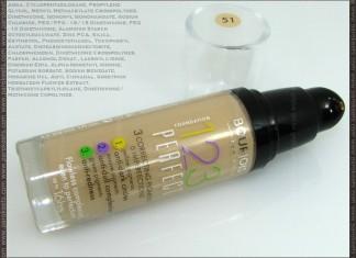Bourjois 123 Perfect liquid foundation: bottle, ingredients