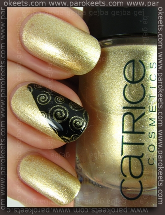 Catrice Goldfinger + Essence My Sparkling Acrobat + IP XL B