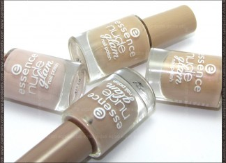 Essence Nude Glam nail polishes - bottles