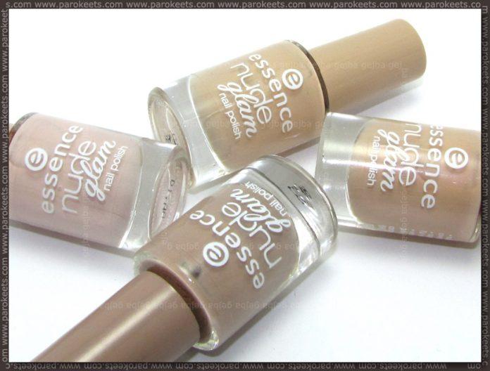 Essence Nude Glam nail polishes - bottles
