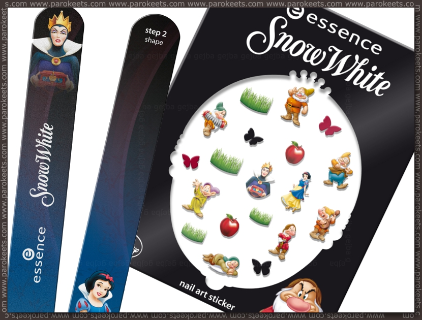 Essence Snow White TE - nail stickers, file