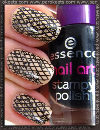 Lace konadicure: Essence Toffee To Go + XL A + m09 + BM 205