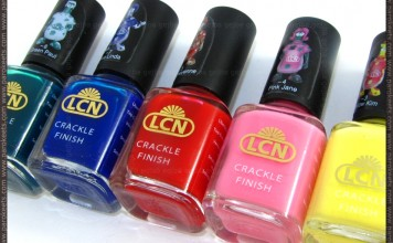 LCN crackle nail polishes