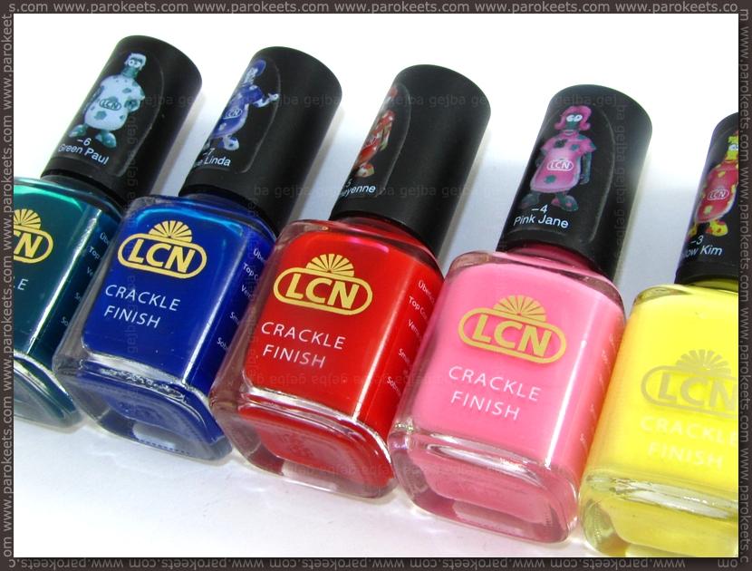 LCN crackle nail polishes