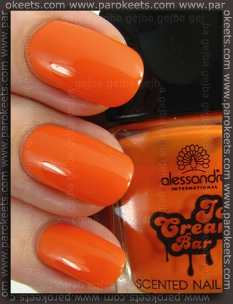 Alessandro Ice Cream Bar LE - Mango-Papaya nail polish