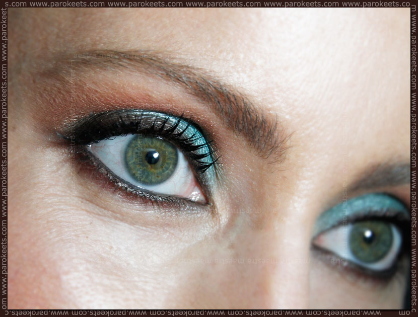 FOTD: Turquoise Smashbox Shades of Fame eye palette look by Maestra