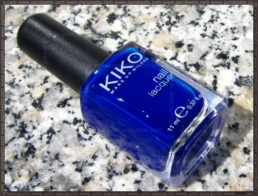 Kiko Blu Inchiostro nail polish swatch (no. 335)