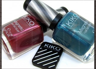Kiko magnetic nail polish: 702, 705