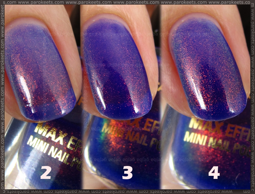 Max Factor Fantasy Fire layers