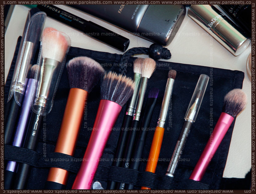 Make up brushes for travelling