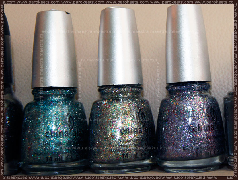 Nail polish haul: China Glaze - Optical Illusion, Ray-Diant, Prism (Prismatic Chroma Glitters)