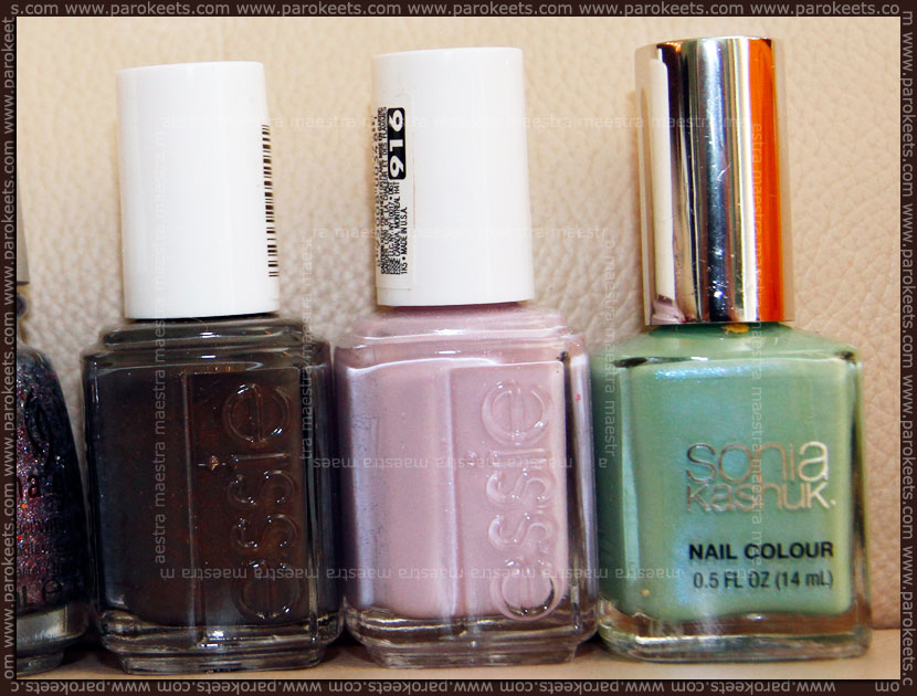 Nail polish haul: Essie - Armed And Ready, To Buy Or Not To Buy, Sonia Kashuk - Fairy Princes