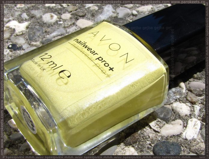 Avon Lemon Sugar nail polish bottle