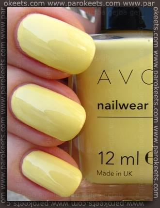 Avon Lemon Sugar nail polish swatch