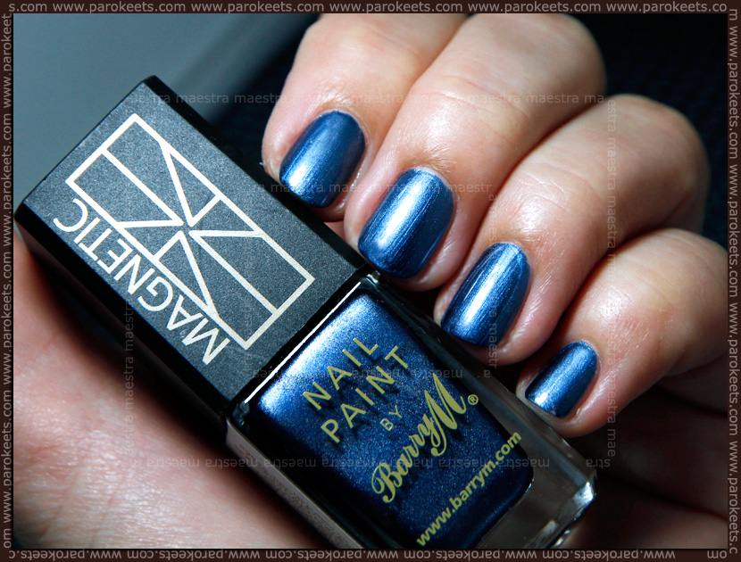 Swatch: Bary M - Magnetic nail paint: Blue