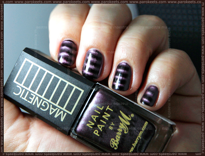 Swatch: Bary M - Magnetic nail paint: Violet