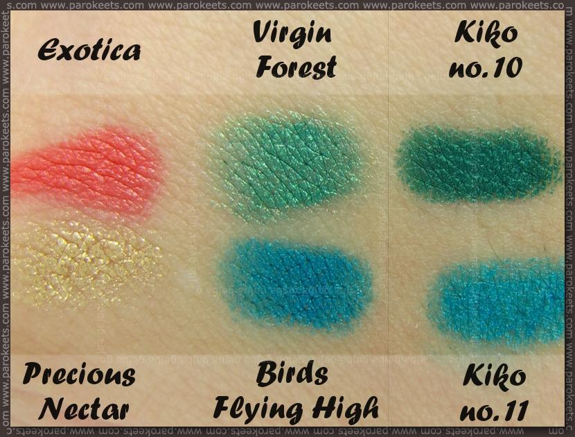 Catrice Coolibri LE - eyeshadow pens + Kiko comparison