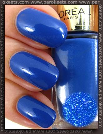 L Oreal Color Riche Rebel Blue No 610 Nail Polish Swatch