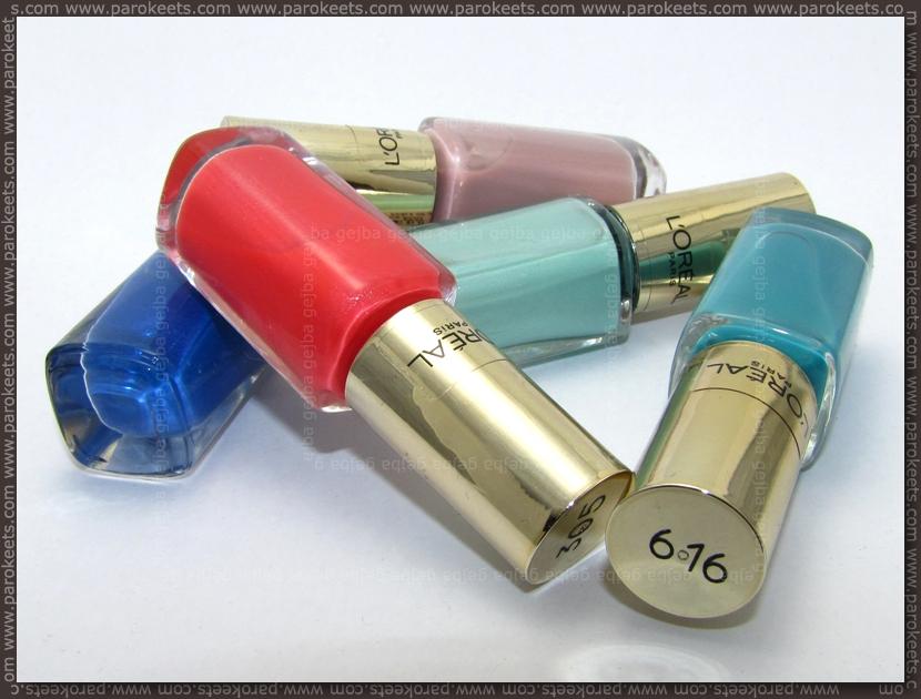 L'Oreal Color Riche nail polishes