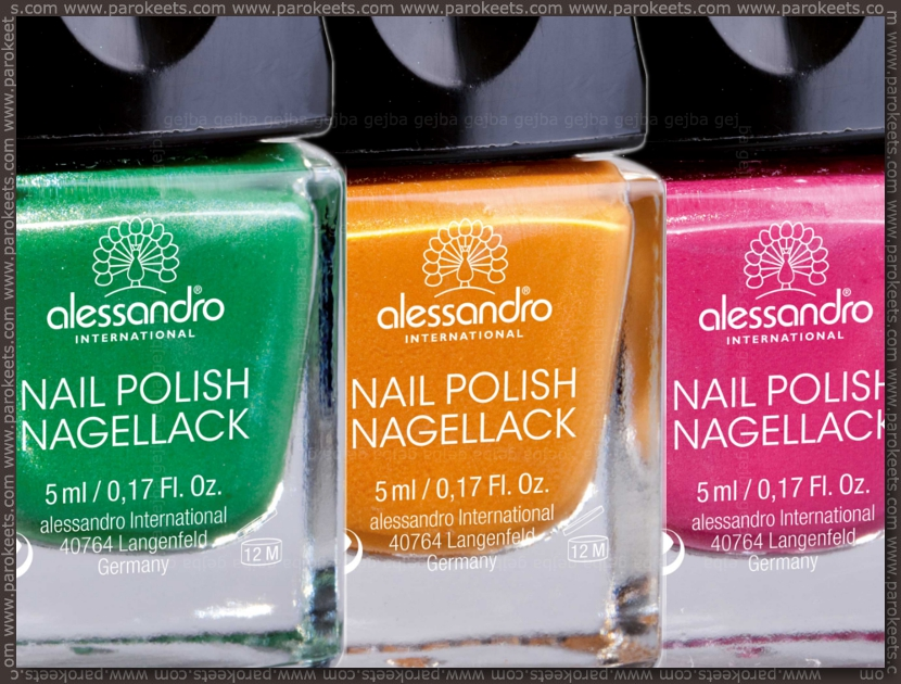 Alessandro Adore Me: Voyeuristic Green, Wicked Ginger, Dramatic Blossom