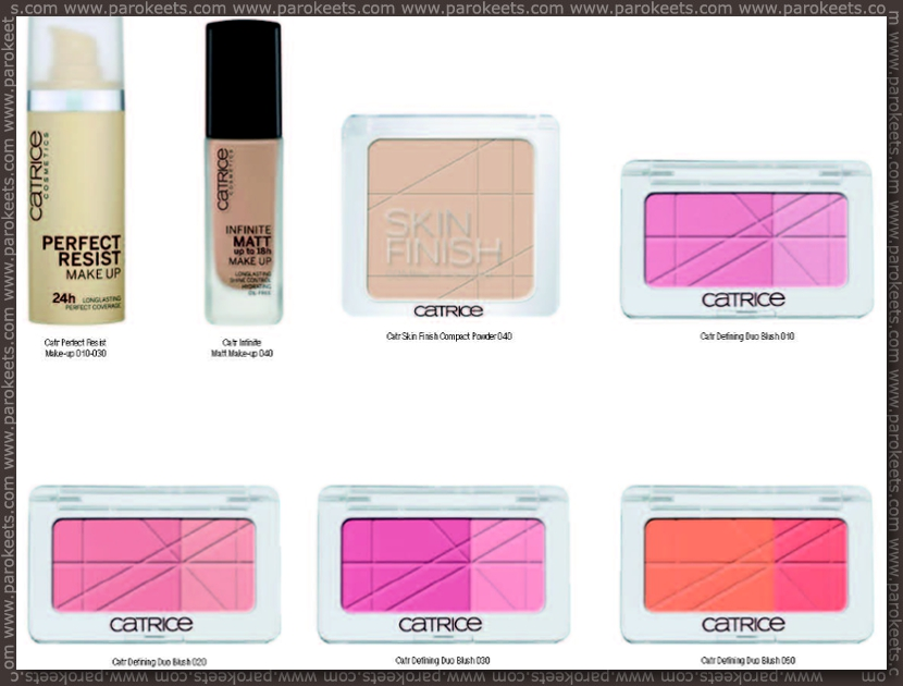 Catrice fall 2012 going away products - Perfect Resist foundation, blushes