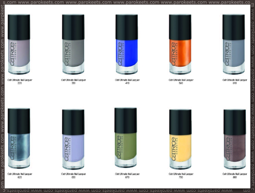 Catrice fall 2012 going away products - nail polishes