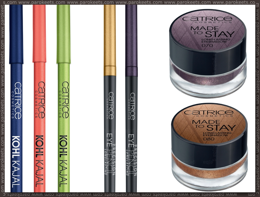 Catrice new products fall 2012 - long lasting eyeshadows, eyeliners