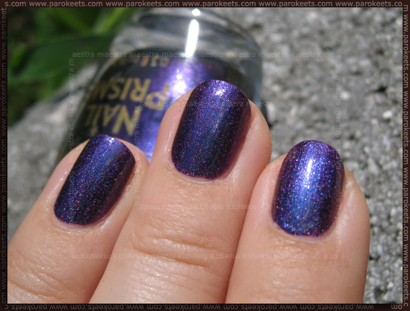 Swatch: Color Club - Wild At Heart and Sally Hansen - Nail Prisms - Garnet Lapis (layering)