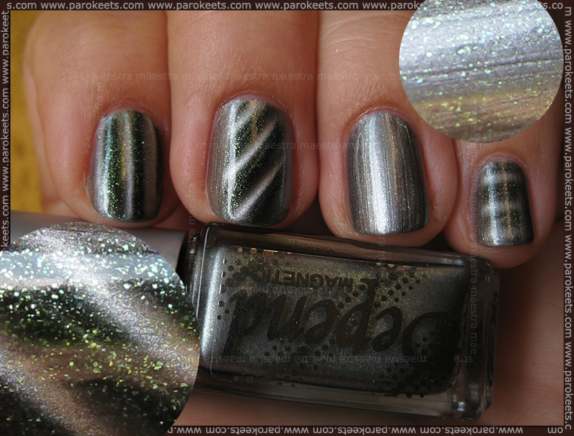 Swatch: Depend - 6000 Magnetic nail polishes
