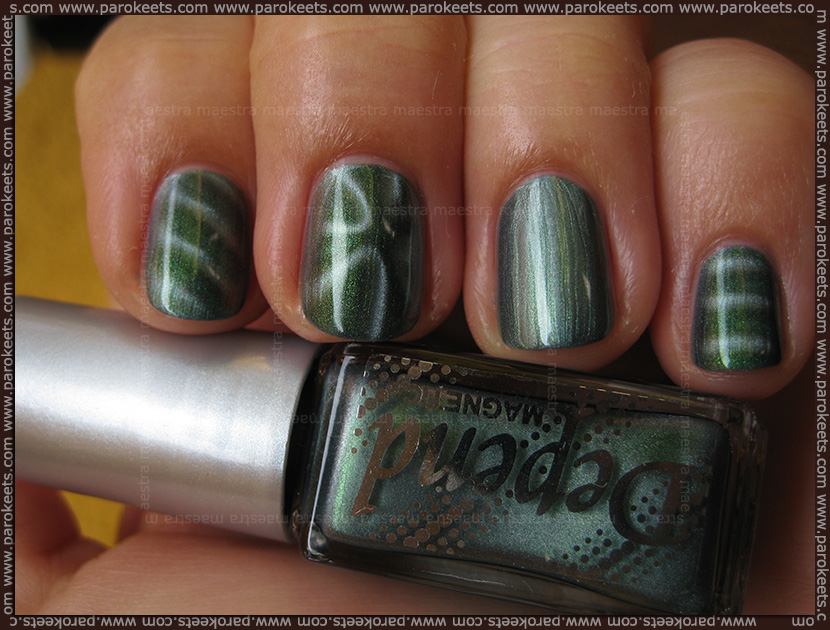 Swatch: Depend - 6011 Magnetic nail polishes