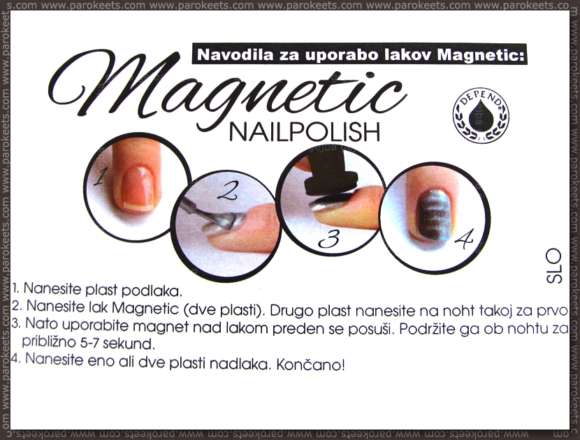 Depend Magnetic nail polish instructions